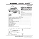 Sharp QT-CD250 (serv.man6) Service Manual