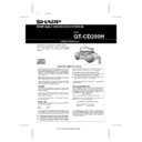 Sharp QT-CD250 User Guide / Operation Manual