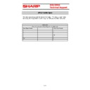 Sharp CABLES (serv.man3) Specification