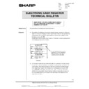 Sharp GENERAL (serv.man52) Technical Bulletin