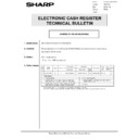 Sharp GENERAL (serv.man58) Technical Bulletin