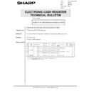 Sharp GENERAL (serv.man67) Technical Bulletin