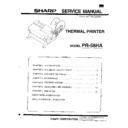 Sharp UP-600, UP-700 (serv.man11) Service Manual