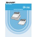 Sharp UP-600, UP-700 (serv.man26) User Guide / Operation Manual
