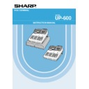 Sharp UP-600, UP-700 (serv.man27) User Guide / Operation Manual