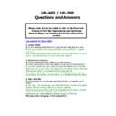 Sharp UP-600, UP-700 (serv.man28) FAQ
