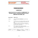 Sharp UP-600, UP-700 (serv.man54) Technical Bulletin