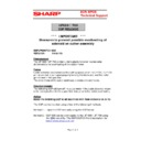 Sharp UP-600, UP-700 (serv.man57) Technical Bulletin