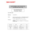 Sharp UP-600, UP-700 (serv.man67) Technical Bulletin