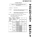 Sharp UP-600, UP-700 (serv.man73) Technical Bulletin