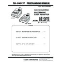 Sharp XE-A203 (serv.man4) Service Manual