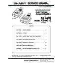 Sharp XE-A203 (serv.man5) Service Manual