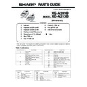 Sharp XE-A203 (serv.man6) Parts Guide