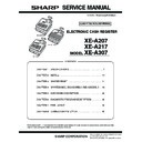Sharp XE-A207 (serv.man3) Service Manual