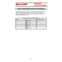 Sharp CABLES (serv.man2) Specification