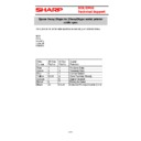 Sharp CABLES (serv.man5) Specification