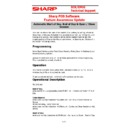 Sharp SHARP POS SOFTWARE V4 (serv.man13) Handy Guide