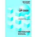 Sharp UP-3500 (serv.man34) User Guide / Operation Manual