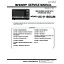Sharp AX-1100(R)M, AX-1100(SL)M (serv.man18) Service Manual