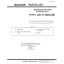 Sharp AX-1100(R)M, AX-1100(SL)M (serv.man19) Parts Guide