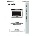 Sharp R-1900M (serv.man14) User Guide / Operation Manual