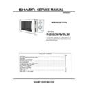 Sharp R-202M Service Manual
