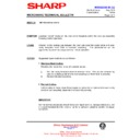 Sharp R-4G75M (serv.man11) Technical Bulletin