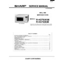 Sharp R-4G75M (serv.man2) Service Manual