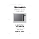 Sharp R-61FBSTM (serv.man2) User Guide / Operation Manual