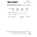 Sharp R-730AM (serv.man17) Technical Bulletin