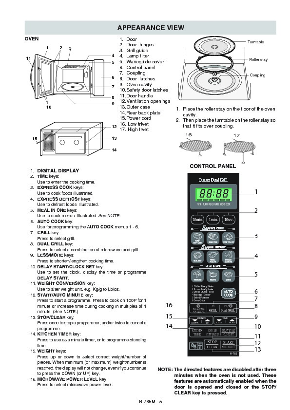 sharp r-765m  serv man18  parts guide