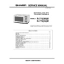 Sharp R-772M Service Manual