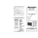 Sharp R-84ST Handy Guide