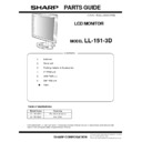 Sharp LL-151-3D Parts Guide