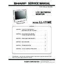 Sharp LL-171ME Service Manual