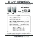Sharp LL-172AW Service Manual