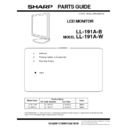 Sharp LL-191A (serv.man2) Parts Guide