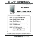 Sharp LL-191A Service Manual