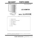 Sharp LL-H1513 (serv.man18) Parts Guide