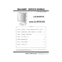 Sharp LL-H1513 Service Manual