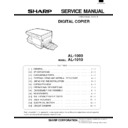 Sharp AL-1000, AL-1010 (serv.man15) Service Manual