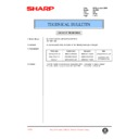 Sharp AL-1520 (serv.man36) Technical Bulletin