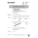 Sharp AL-1520 (serv.man46) Technical Bulletin
