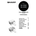 Sharp AL-2020 (serv.man5) User Guide / Operation Manual