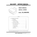 Sharp AL-840 (serv.man3) Service Manual
