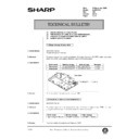 Sharp AL-840 (serv.man41) Technical Bulletin