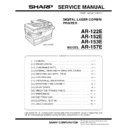 Sharp AR-152E Service Manual
