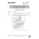 Sharp AR-161 (serv.man135) Technical Bulletin
