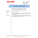 Sharp AR-250 (serv.man23) Technical Bulletin