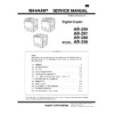 Sharp AR-250 (serv.man4) Service Manual